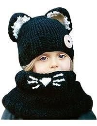 Bonnet hiver pour Bébé Chapeaux bebe Set de 2 pièces Ensemble Echarpe  Sunroyal Calotte Chapeau Bébé Fille Garçon Enfants Bébé… 2b01169ee4b