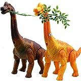 SZSMART Dinosaurier Spielzeug Elektronisches Brachiosauruspielwaren mit Gehen, simuliertem Brüllen, Projektion, Eier Legen, Weihnachten Neujahr Geschenk für Kinder, Zufällige Farbe