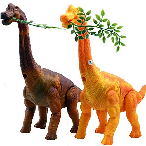 Szsmart elettronico simulazione brachiosaurus animali di dino, modello a piedi dinosauro miglior creativo regalo per bambini compleanno o regali di natale, colore casuale