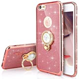 Custodia iPhone X, iPhone 10 Cover Sottile Silicone, SainCat Cover per iPhone X/iPhone 10 Silicone Morbido Glitter, Bling Glitter Shock-Absorption Ultra Slim Transparent Silicone Case Ultra Sottile Morbida Gel Cover TPU Case Custodia Protettiva Cover Bumper Antishock Antipolvere Ultra Soft Ultra Protettiva Custodia Bumper Cover per iPhone X/iPhone 10-Oro Rosa