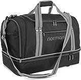 normani Sporttasche 90 | 58 | 28 Liter Reisetasche mit Separatem Schmutzwäsche- und Schuhfach Sportlich Schlichtes Design Weekender Farbe 58 Liter Grau