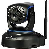 Wansview Caméra IP de sécurité 1080p HD WIFI Surveillance Caméra Intérieure, Pan/Tilt, Plug et Play, Moniteur Maison Webcam avec Vision Nocturne Q1(Noir)