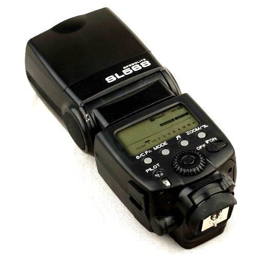 Kaavie - Flash master controlla 3 gruppi di schiavi SL-568 Flash per fotocamera reflex digitale Canon, Nikon, Panasonic, Olympus DSLR - Professional GN58 a 105 millimetri lenth focale, ISO 100; Zoom manuale 24 e 105mm