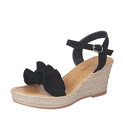 Strungten Frauen-populäre Keil-Sandelholze, Absatz-Sandelholz-Plattform-Sandelholz-Spitze-Sandelholz-Damen-Sandelholz-Schuhe im Freien
