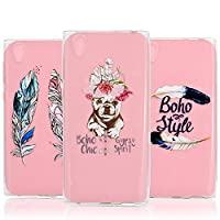 [3-Pack] Xperia XA1 Case, Xperia XA1 Cover - Vandot 3 Pcs Clear Flexible Soft TPU Case Easy Grip Ultra Thin Slim Fit HD Painting Pattern Non-Slip Scratch Resistant Bumper Practical Protective Case Cover Pack of 3 for Sony Xperia XA1 - Feathers / Chic Pupp