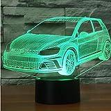 Fyyanm Colorful Night Vision Vision 3D Led Novità Modellismo Auto Regali Di Natale Forma Di Veicolo Lampada Da Tavolo Lampada Da Comodino Creativa