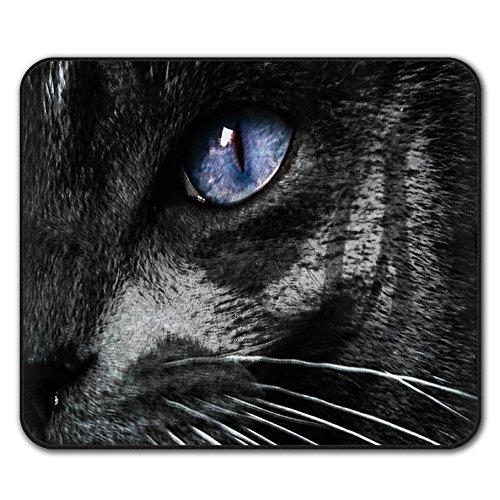 Mürrisch Kostüm - Mystisch Tier Auge Katze Mouse Mat Pad, Süß Rutschfeste Unterlage - Glatte Oberfläche, verbessertes Tracking, Gummibasis von Wellcoda