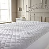 Single Quilted Mattress Protector Extra Deep Cover Hotel Quality (Quilted Mattress Protector, Single)