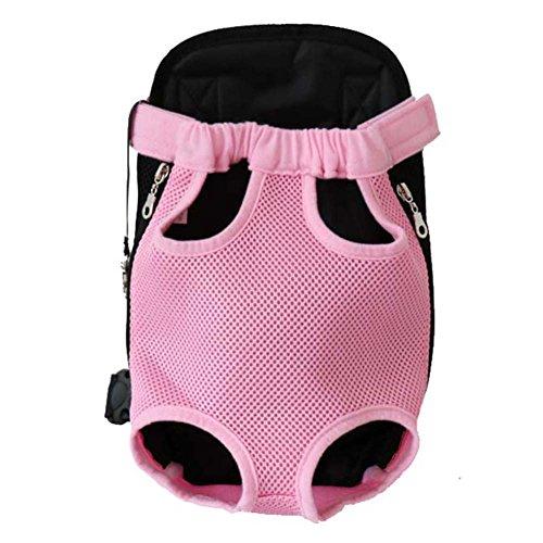 WONIU Hund Rucksack Atmungsaktive Hundetasche Reise Umh_ngetasche für Hunde & Katzen Pink L