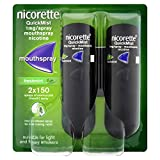 Nicorette QuickMist Mouth Spray, Freshmint, Duo Pack, 1 mg - Stop Smoking Aid  x 2