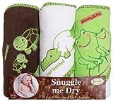 Frosch/Alligator/Schildkröte mit Kapuze Badetuch Set, 3-pack