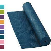 Tapis de yoga Asana, antidérapant, 183 x 60 cm, 4 mm, PVC, Tapis de yoga de qualité pas seulement pour les débutants, tapis de gymnastique, sans phtalates, sans substances nocives