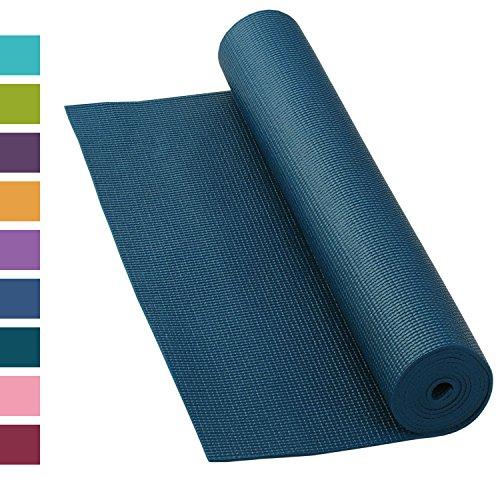 Yogamatte ASANA MAT, 183 x 60cm, 4mm PVC mit ÖKO-TEX 100, gute Yoga-Matte nicht nur für Anfänger, Sticky Mat, Gymnastikmatte, phtalatfrei, schadstofffrei (petrol)