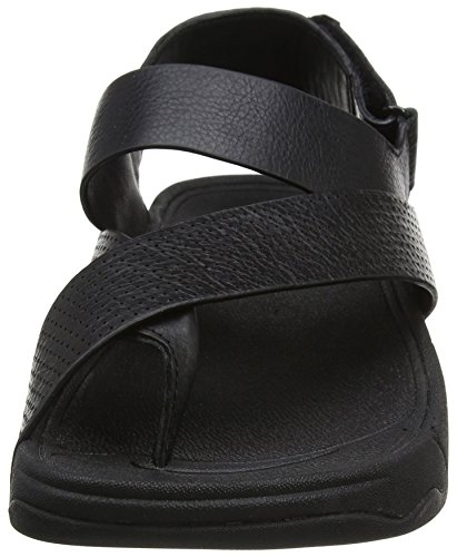 FitFlop Herren Sling Perf Mens Leather Sandal Black (All Black)