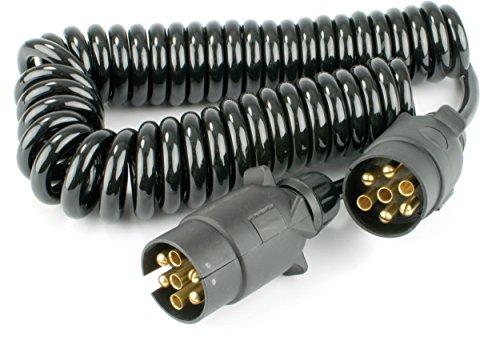 Warrior 7-polig Trailer Plug Verkabelung Spring Kabel Stecker-Stecker; KFZ Anhänger Stecker (2,5m) - Springs Wohnwagen