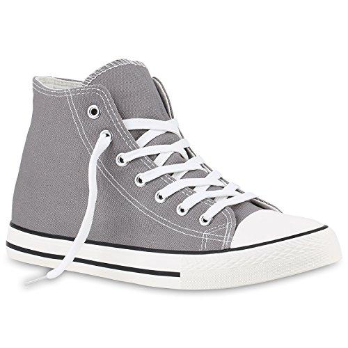 Scarpe Da Uomo Sneakers Sneakers Alte Sneakers In Denim Scarpe Di Stoffa Mimetiche Lacci Flandell Grigio Arriate
