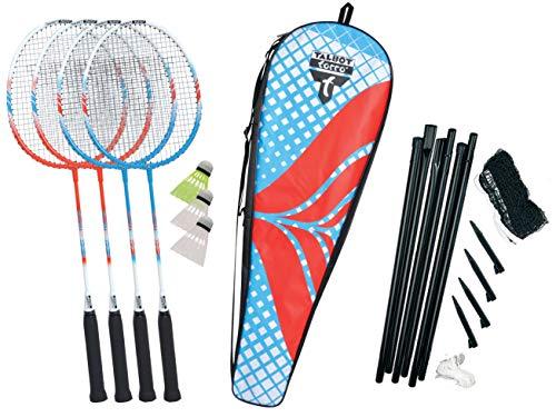 Talbot Torro Unisex- Erwachsene 4-Fighter Badminton- und Federball Set, 449408, One Size