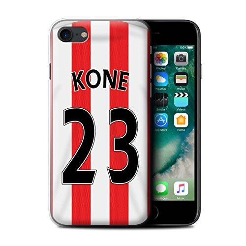 Offiziell Sunderland AFC Hülle / Case für Apple iPhone 7 / Rodwell Muster / SAFC Trikot Home 15/16 Kollektion Kone