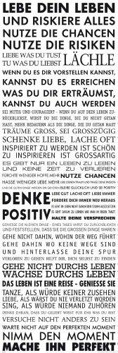 empireposter - Motivational - Lebe Dein Leben - Größe (cm), ca. 53x158 - Türposter, NEU -