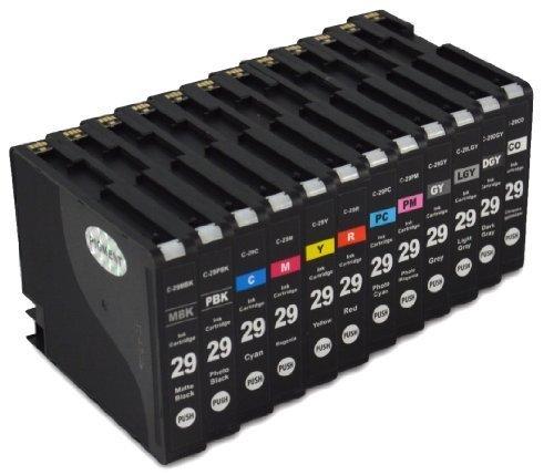 Fotoleiter-set (Bubprint 12 Druckerpatronen kompatibel für Canon PGI-29 PGI29 SET)