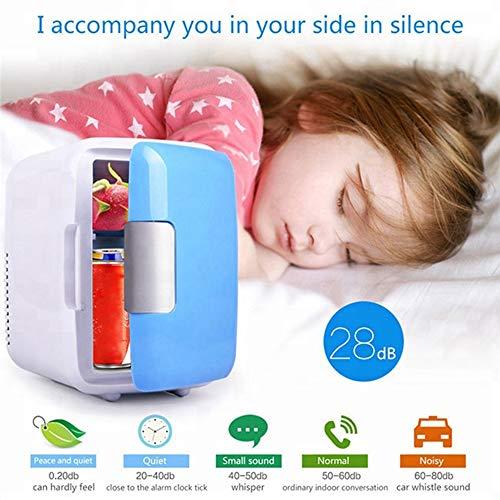 MEISHENG Klassischer 4-Liter-Kompaktkühler / -wärmer-Mini-Kühlschrank für Autos, Road Trips, Häuser, Büros und Schlafsäle (blau),Blue