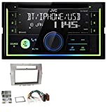 caraudio24 JVC KW-R930BT MP3 Bluetooth USB CD 2DIN Aux Autoradio für Toyota Corolla Verso 04-09 Silber