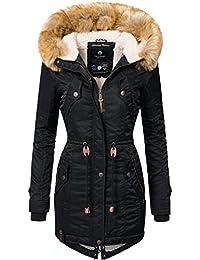 Navahoo Damen Winter Mantel Winterparka La Viva (Vegan Hergestellt) 11 Farben XS-XXL