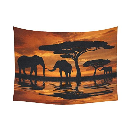 InterestPrint - Decoración para pared, paisaje, diseño de elefantes africanos en el...