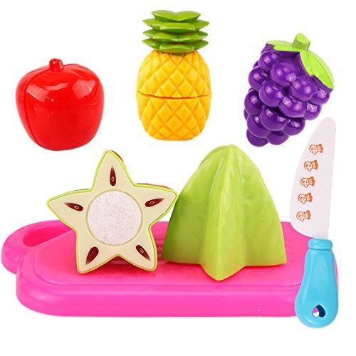 LAAT 20 STÜCKE Lebensmittel Spielzeug Schneiden Spaß Spielen Obst Lebensmittel Spielzeug FoodPretend Gemüse Pädagogisches Spielzeug Spielen Essen Set für Kinder Kinder (1)