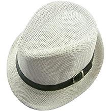 Leisial Sombreros de Jazz de los Niños Sombrero de Paja Playa Sombrero del Sol  Gorro de 8aaa6fd402c