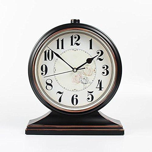 XKS Europäische Antike Tischuhr - Wohnzimmer American Desktop Clock - Desktop Kreative Uhr...