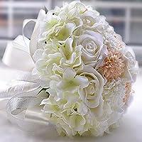 Winhappyhome simulazione seta fiore girasole Cymbidium Handmade sposa azienda fiori