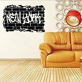 Namefeng Wandaufkleber New York Retro Wort Zitat Wandaufkleber Aufkleber Transfer Film Wörter & Phrasen 55X40Cmwall Aufkleber