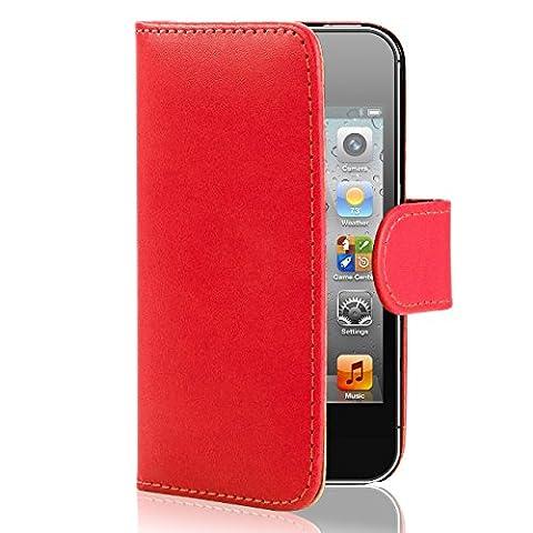 Coque Iphone 4 Cuir - 32nd Etui Coque en Cuir PU Portefeuille