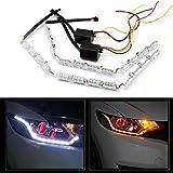 USUN 2 St 3W 12 LED 12V / 24V Tagfahrlicht Blinker Licht DRL Streifen Lampe DRL treibendes Licht Lampe