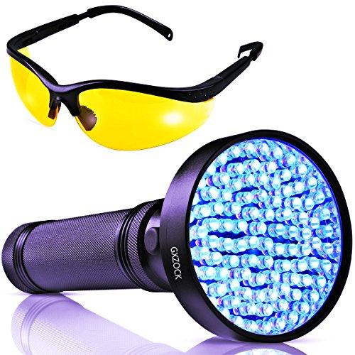 Uv-schwarzlicht-taschenlampe -100 LED Uv-schwarzlicht - Leistungser 390-400NM Pet Urin Taschenlampendetektor - Mit Uv-sonnenbrillen, Professioneller Detektor Für Hunde, Haustiere, Urin