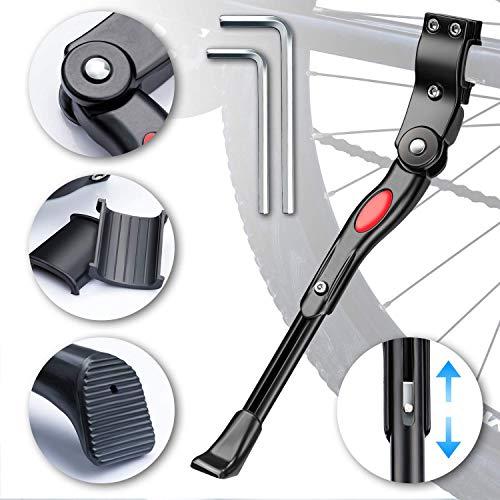 WATSABRO Fahrradständer Seitenständer Verstellbarer Universal-Seitenständer Unterstützung für Mountainbike, Rennrad, Fahrräder Raddurchmesser von 18-26 Zoll