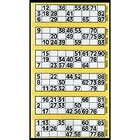 600 Tickets de Bingo Jaune - 6 Coussin pour afficher des Flyers