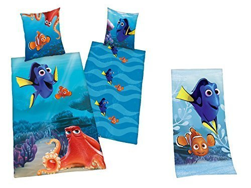 Findet Dorie Dory Bettwäsche + Handtuch Nemo 135 x 200 cm + 75 x 150 cm NEU WOW - All-In-One-Outlet-24 -