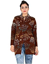 0ac675ef0d326 Woolly Women's and Girls Floral Designed Coat with Pockets for Winter -RS1911COAT