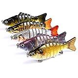 WOXIANGJJ Multi Jointed Bionic Fishing Lures 6 Segmente Swimbait Lifelike Hard Bait mit Starken Hook Riesige Köder (10CM 15.5g Nur 5)