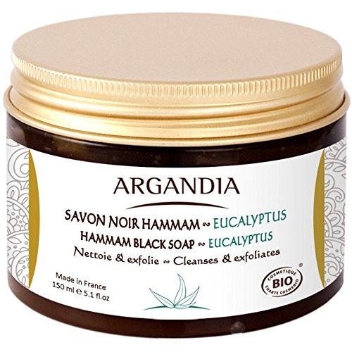 Argandia Hamam, Eukalyptus Schwarzseife, 150 g