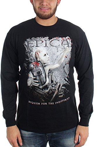 Epica Mens Requiem per Indifferent-Maglietta a maniche lunghe nero Small