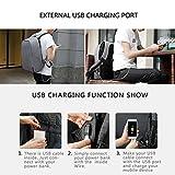 Kopack Waterproof Anti Theft Laptop Backpack with USB Charging Port Business Travel Backpack bag for Men Women TSA Friendly 15.6 inch Grey