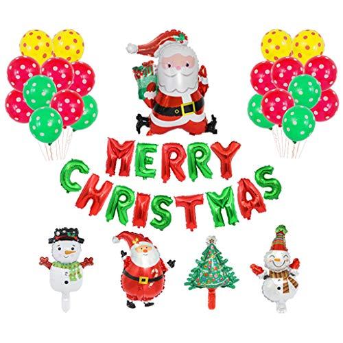 Lailongp Weihnachtsschmuck Folienballon Kit Geschenk für Silvester Party Decor