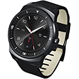"LG G Watch R - Smartwatch Android (pantalla 1.3"", 4 GB, 1.2 GHz, 512 MB RAM), negro"