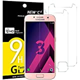 NEW'C Verre Trempé pour Samsung Galaxy A3 2017 (SM-A320F),[Pack de 2] Film Protection écran - Anti Rayures - sans Bulles d'air -Ultra Résistant (0,33mm HD Ultra Transparent) Dureté 9H Glass