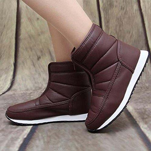 Solshine , chaussures compensées femme rouge bordeaux