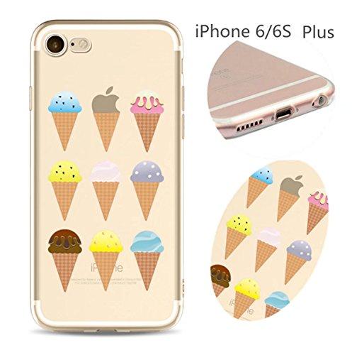 Cover iPhone 6 Plus Custodia telefono creativo trasparente silicone Guscio morbido Anti Graffio Copertura protettiva Anti-polvere paraurti Si applica a iPhone 6/6S Plus(5.5) disegno-27