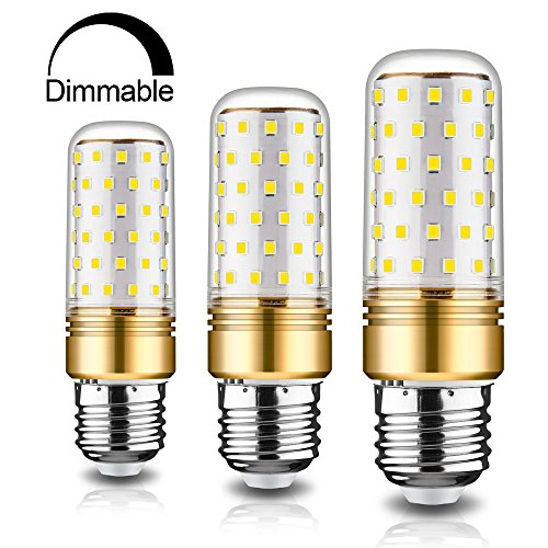 rayhoo E27dimmbar LED Leuchtmittel, LED Leuchtmittel 12Watt, Glühbirne 100–120W Äquivalent, warm weiß 3000K, 3STÜCK